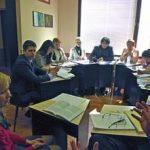 Seminargruppe bei der Arbeit